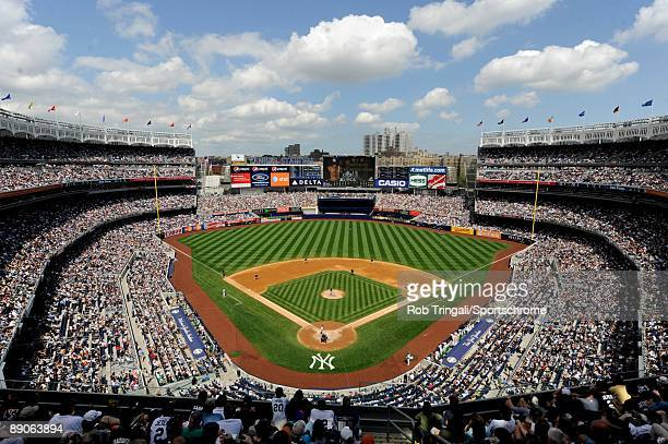 A general view of the interior of Yankee Stadium during a day game during a game between the New York Yankees and the Tampa Bay Rays on June 6 2009...