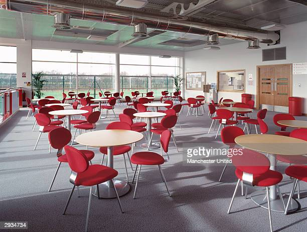 A general view of the interior viewing area at the Manchester United Academy building at the Trafford Training Ground in Carrington on November 25...