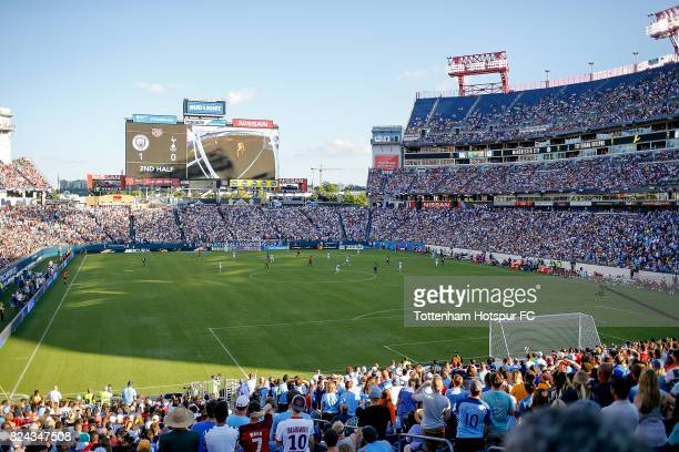 A general view of the International Champions Cup 2017 game between Tottenham Hotspur and Manchester City at Nissan Stadium on July 29 2017 in...
