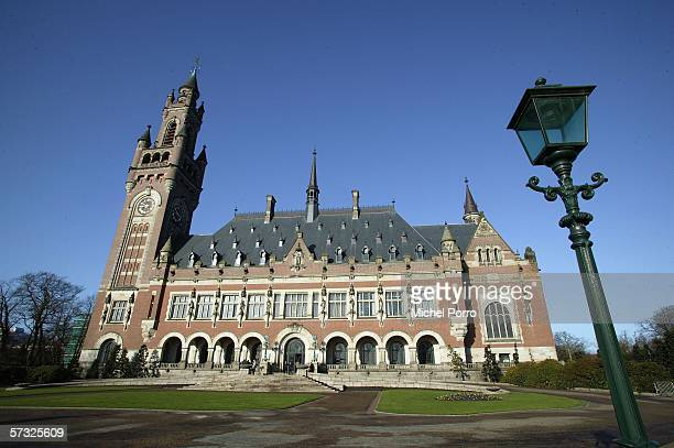 General view of the International Court of Justice April 12, 2006 in The Hague, the Netherlands.