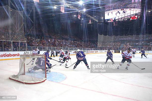 General view of the International Ice Hockey Series match between the USA and Canada at Brisbane Entertainment Centre on July 19 2014 in Brisbane...