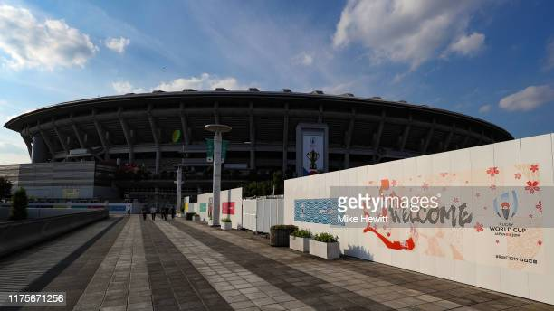 A general view of the International Stadium Yokohama ahead of the Rugby World Cup on September 19 2019 in Yokohama Japan