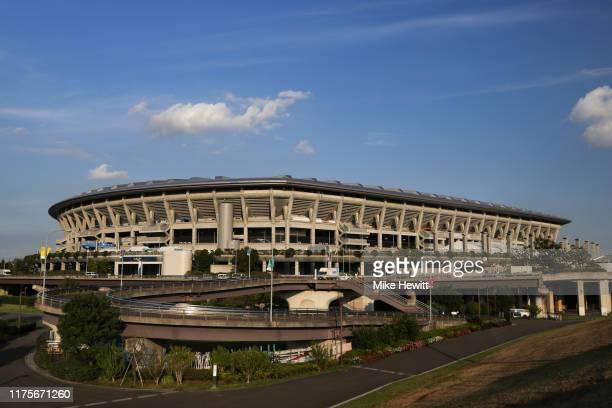 A general view of the International Stadium Yokohama ahead of the Rugby World Cup on September 19 2019 in Yokohama Japan