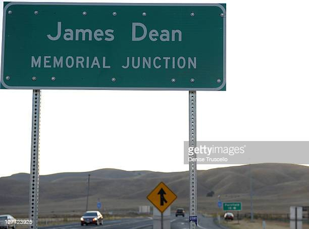 A general view of the intersection where actor James Dean died 56 years ago on September 30 2011 in Cholame California