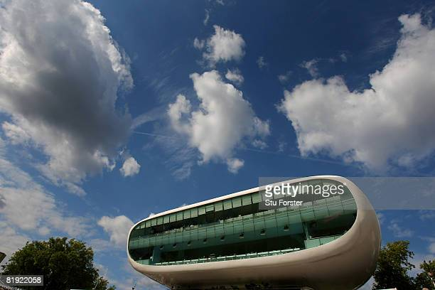 A general view of the Investec Media centre during day four of the First Test match between England and South Africa at Lord's Cricket Ground on July...