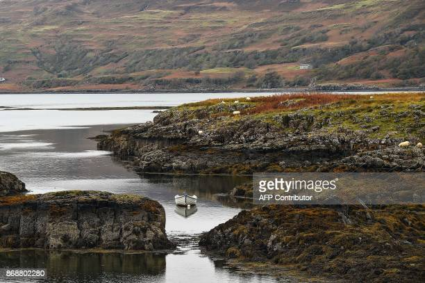 A general view of the Isle of Ulva off Scotland's west coast on October 20 2017 When tycoons in helicopters began landing on Scotland's Isle of Ulva...