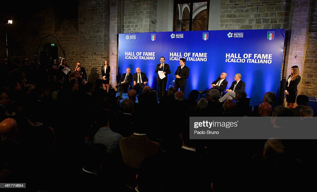 A general view of the Italian Football Federation Hall of Fame Award ceremony at Palazzo Vecchio on January 19, 2015 in Florence, Italy.