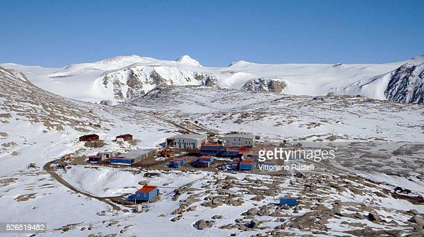 General view of the Italian Mario Zucchelli permanent research station, at Terra Nova Bay, Ross Sea, Antarctica. The base can host more than 100...