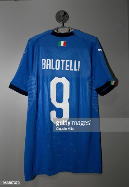 A general view of the Italy dressing room ahead of the International Friendly match between France and Italy at Allianz Riviera Stadium on June 1...