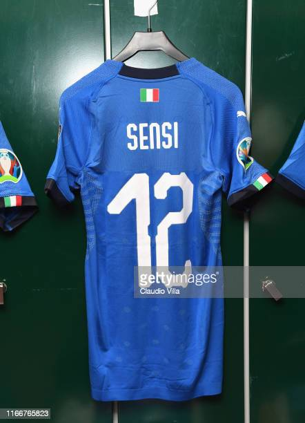 General view of the Italy dressing room ahead of the UEFA Euro 2020 qualifier between Finland and Italy at Tampere stadium on September 8, 2019 in...