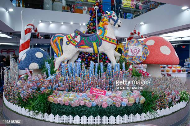"General view of the ""Its Sugar"" store inside the American Dream mall located in East Rutherford, New Jersey on December 19, 2019."