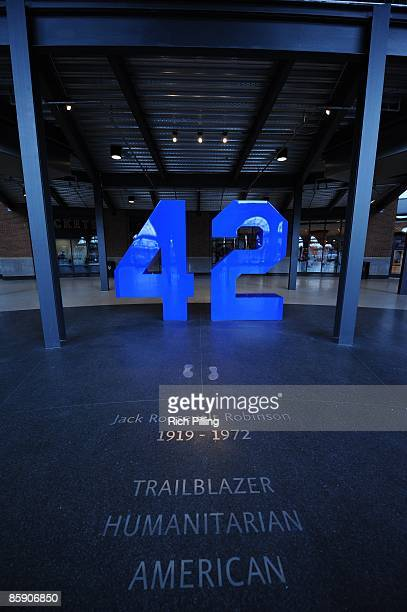 A general view of the Jackie Robinson Rotunda during an exhibition game at Citi Field in Flushing Queens New York on Saturday April 4 2009 The Boston...