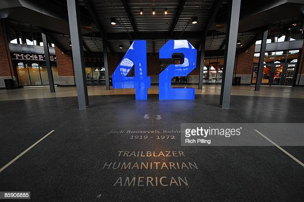 General view of the Jackie Robinson Rotunda during an exhibition game at Citi Field in Flushing, Queens, New York on Saturday, April 4, 2009. The...