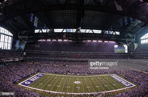 A general view of the Jacksonville Jaguars and the Indianapolis Colts on September 21 2008 at Lucas Oil Stadium in Indianapolis Indiana
