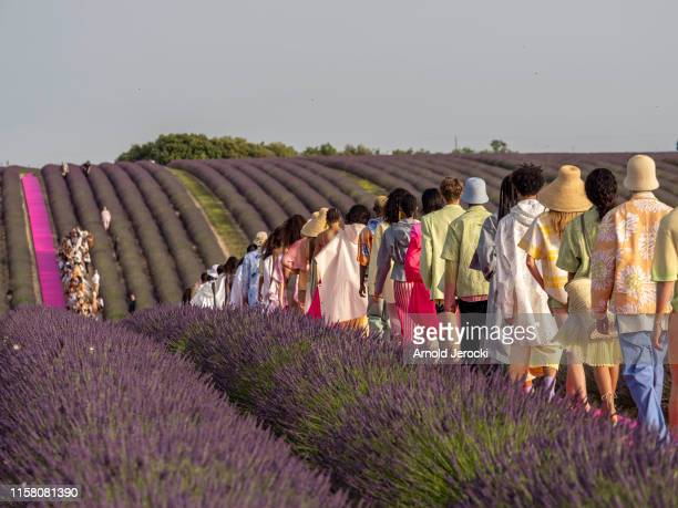 General view of the Jacquemus Menswear Spring Summer 2020 show on June 24, 2019 in Valensole, France.