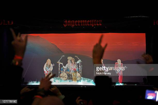 General view of the Jagermeister Ice Cold 4D Alice Cooper Holographic Eventat Battersea Power station on May 11 2011 in London England