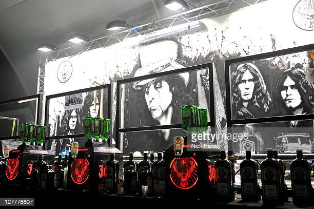 General view of the Jagermeister Ice Cold 4D Alice Cooper Holographic Event at Battersea Power station on May 11 2011 in London England