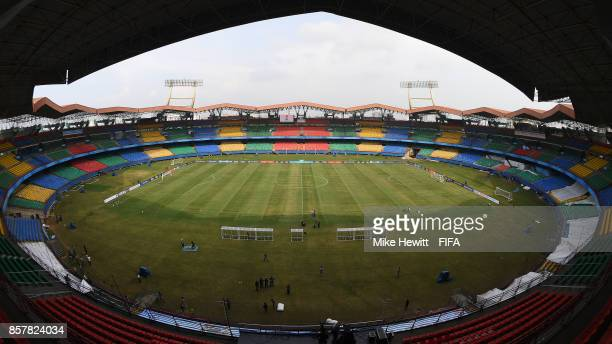 A general view of the Jawaharlal Nehru International Stadium ahead of the FIFA U17 World Cup India 2017 tournament at on October 5 2017 in Kochi India