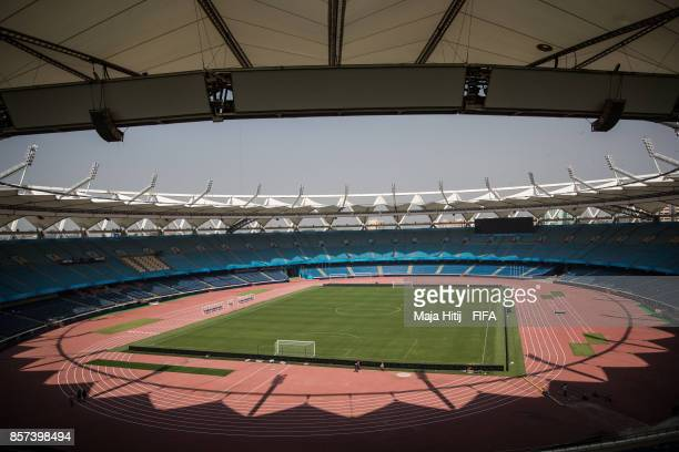 General view of the Jawaharlal Nehru Stadium ahead of the FIFA U17 World Cup India 2017 tournament at on October 4 2017 in New Delhi India