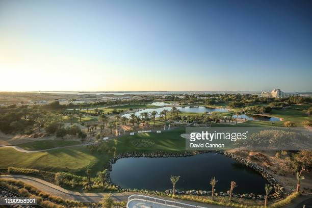 A general view of the Jebel Ali Golf Course and the Beach Hotel during the JA Resort Lake View Hotel Bibe Roof Top Challenge as a preview for the...