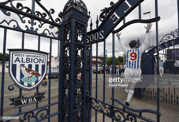 A general view of the Jeff Astle gate outside the stadium prior to the Premier League match between West Bromwich Albion and AFC Bournemouth at The...