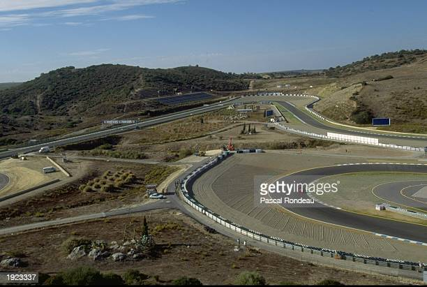 General view of the Jerez circuit during the European Grand Prix in Spain. \ Mandatory Credit: Pascal Rondeau/Allsport