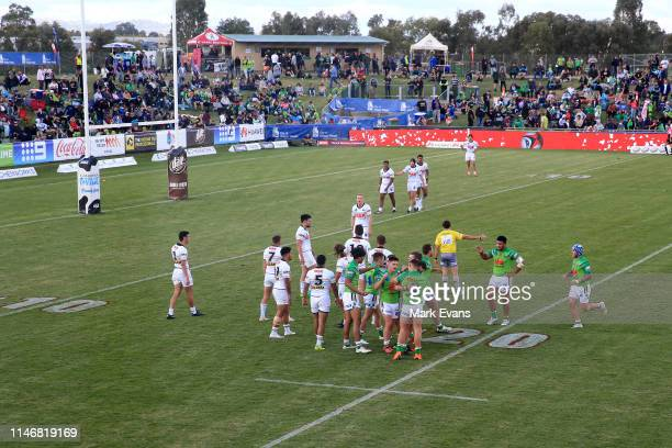 General view of the Jersey Flegg game between the Canberra Raiders and the Penrith Panthers at McDonalds Park on May 04, 2019 in Wagga Wagga,...