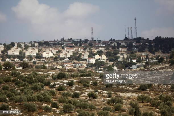 General view of the Jewish settlement of Elon Moreh after the Israeli government approved the construction of 1,350 Israeli Jewish settlement units...