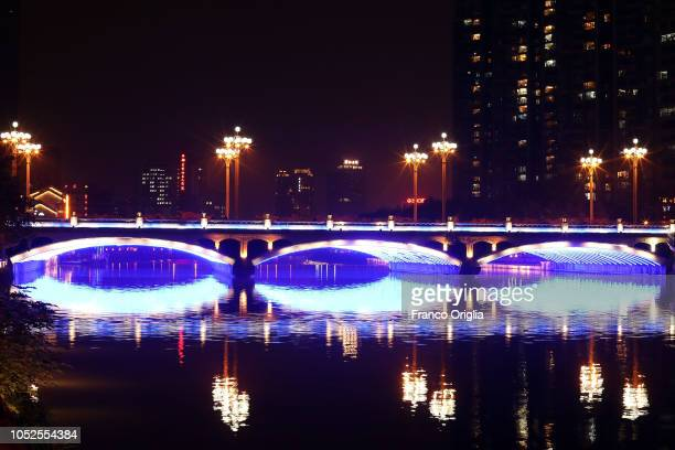 A general view of the Jin river on October 19 2018 in Chengdu China The southwestern Chinese city the capital of Sichuan province plans to launch an...