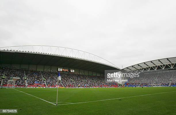 A general view of the JJB Stadium prior to the Barclays Premiership match between Wigan Athletic and Middlesbrough at the JJB Stadium on September 18...