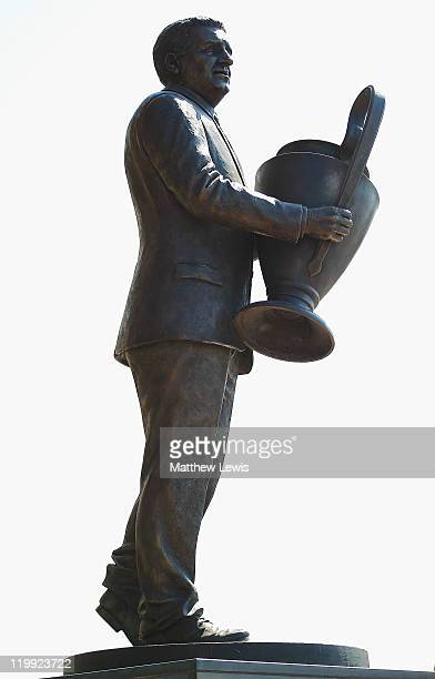 A general view of the John 'Jock' Stein statue at Celtic Park on July 27 2011 in Glasgow Scotland