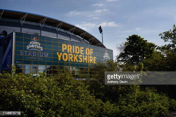 General view of the John Smith's Stadium ahead of the Brexit Party rally on May 13 2019 in Huddersfield England Nigel Farage the former leader of the...