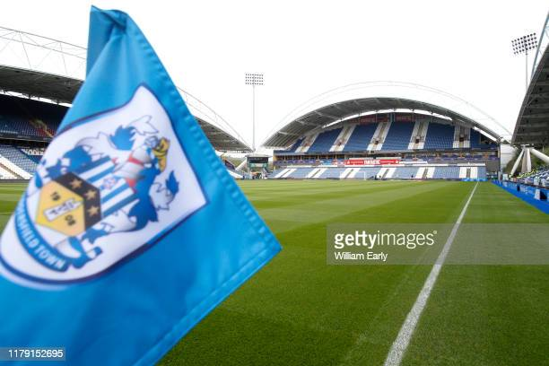 General view of the John Smith's Stadium before the Sky Bet Championship match between Huddersfield Town and Hull City at John Smith's Stadium on...