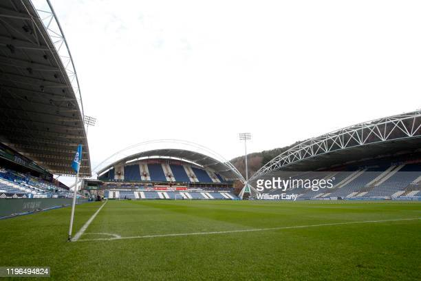 General view of the John Smith's Stadium before the Sky Bet Championship match between Huddersfield Town and Blackburn Rovers at John Smith's Stadium...