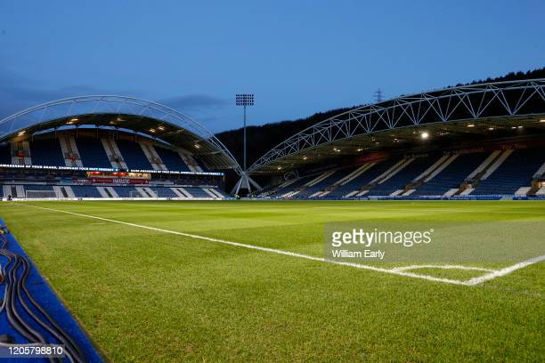 General view of the John Smith's Stadium before the Sky Bet Championship match between Huddersfield Town and Cardiff City at John Smith's Stadium on...