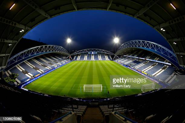 General view of the John Smith's Stadium before the Sky Bet Championship match between Huddersfield Town and Bristol City on February 25, 2020 in...