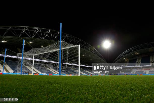 General view of the John Smith's Stadium before the Sky Bet Championship match between Huddersfield Town and Derby County at John Smith's Stadium on...