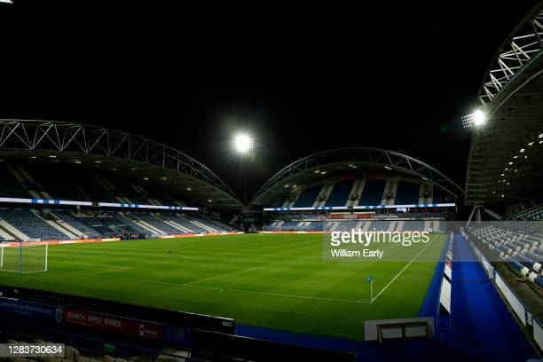 General view of the John Smith's Stadium before the Sky Bet Championship match between Huddersfield Town and Bristol City at John Smith's Stadium on...