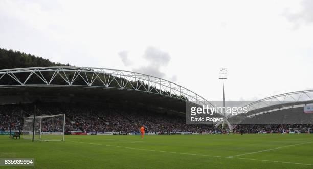 A general view of the John Smith's Stadium during the Premier League match between Huddersfield Town and Newcastle United at John Smith's Stadium on...