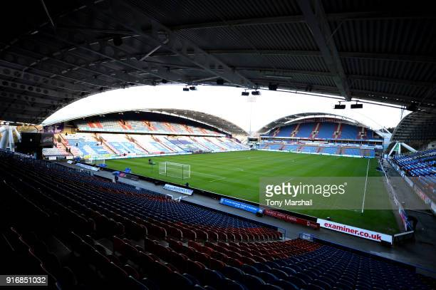 A general view of the John Smith's Stadium during the Premier League match between Huddersfield Town and AFC Bournemouth at John Smith's Stadium on...