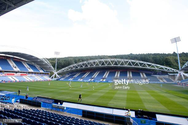 A general View of the John Smith's Stadium during the Sky Bet Championship match between Huddersfield Town and Norwich City at John Smith's Stadium...