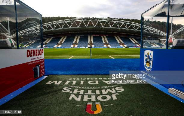 General View of The John Smith's Stadium home of Huddersfield Town before the Sky Bet Championship match between Huddersfield Town and Blackburn...