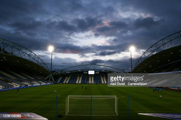 General view of The John Smith's Stadium, home of Huddersfield Town during the Sky Bet Championship match between Huddersfield Town and Nottingham...