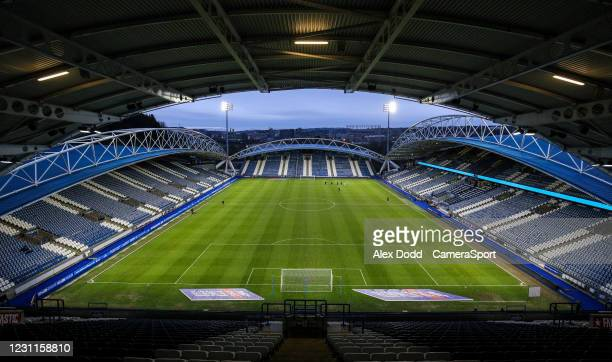 General view of The John Smith's Stadium, home of Huddersfield Town during the Sky Bet Championship match between Huddersfield Town and Wycombe...