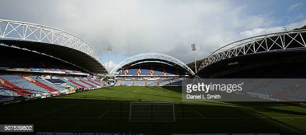 A general view of The John Smith's Stadium prior to the Sky Bet Championship football match between Huddersfield Town and Cardiff City at The John...
