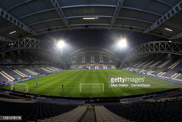 General view of The John Smith's Stadium the home of Huddersfield Town during the Sky Bet Championship match between Huddersfield Town and Birmingham...