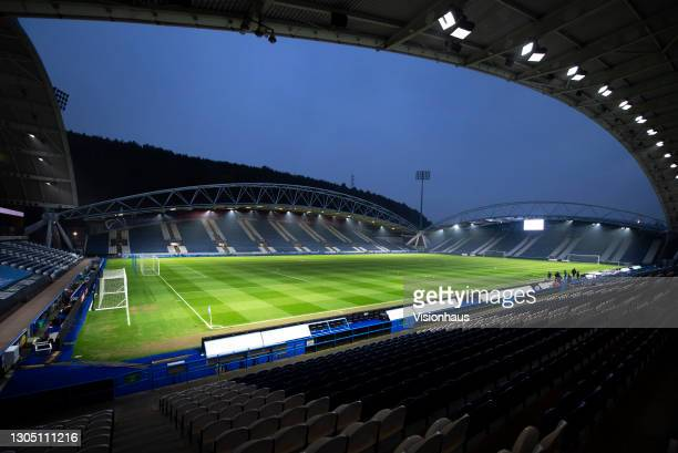 """General view of the John Smith""""u2019s Stadium, home to Hudddersfield Town during the Sky Bet Championship match between Huddersfield Town and..."""
