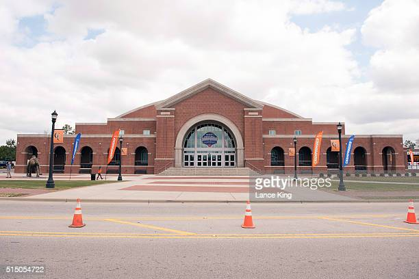 A general view of the John W Pope Jr Convocation Center prior to the championship game of the 2016 Big South Basketball Tournament on March 6 2016 in...