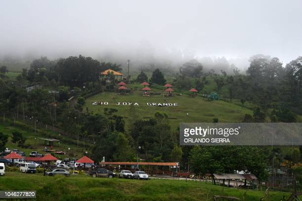 General view of the Joya Grande zoo and ecopark in Santa Cruz de Yojoa Cortes department 160 km north of Tegucigalpa Honduras on October 4 2018 Joya...