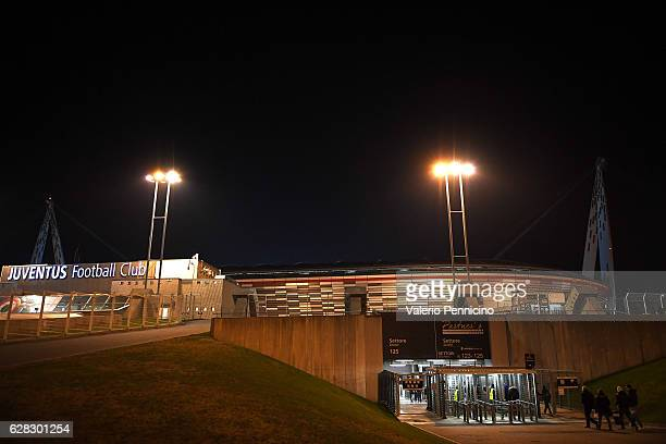 A general view of the Juventus Arena prior to the UEFA Champions League Group H match between Juventus and GNK Dinamo Zagreb at Juventus Stadium on...